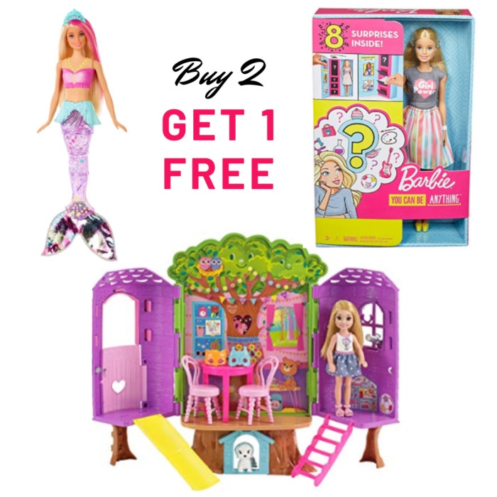Buy 2 Get 1 FREE Toys on Amazon - Barbies ONLY