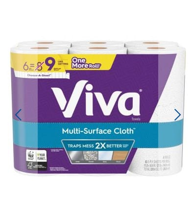 Viva Multi-Surface Paper Towels - 6 ct Only .99 **IN STOCK**
