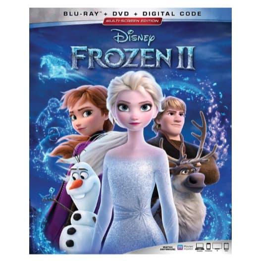 Disney Frozen II Blu-ray + DVD + Digital Copy Now  (Was .99)