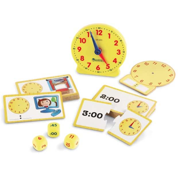 Learning Resources Time Clock Activity Set Now .47