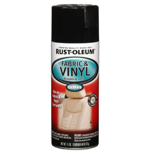 Rust-Oleum Black Automotive Fabric & Vinyl Spray Paint Now .50