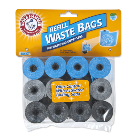 Arm & Hammer Disposable Waste Bag Refills 180 Count Now $4.25 (Was $14.99 )