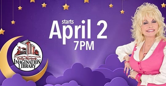 Dolly Parton Reading to Kids LIVE Via YouTube Tonight