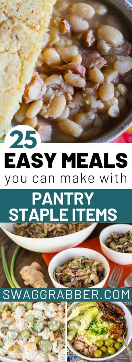 Meals you can make with Pantry Staples