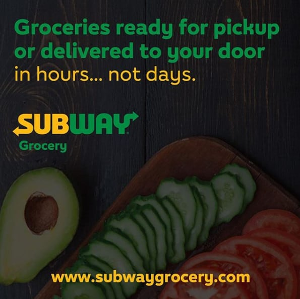 Subway Now Offering Groceries - Meats, Breads, Veggies, and More!