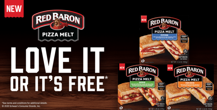 Free Red Baron Pizza Melt After Rebate