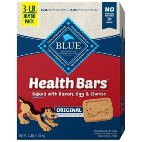 Blue Buffalo Health Bars Natural Crunchy Dog Treats Biscuits Now .25