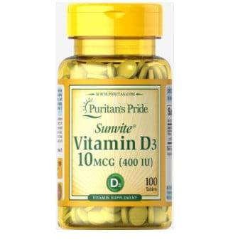 Puritan's Pride Vitamin D3 10 mcg - 3 for .99 w/ Free Shipping