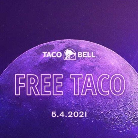 Free Crunchy Beef Taco at Taco Bell 5/4