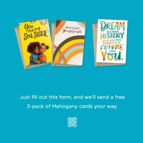 Free 3 Pack of Hallmark Mahogany Cards