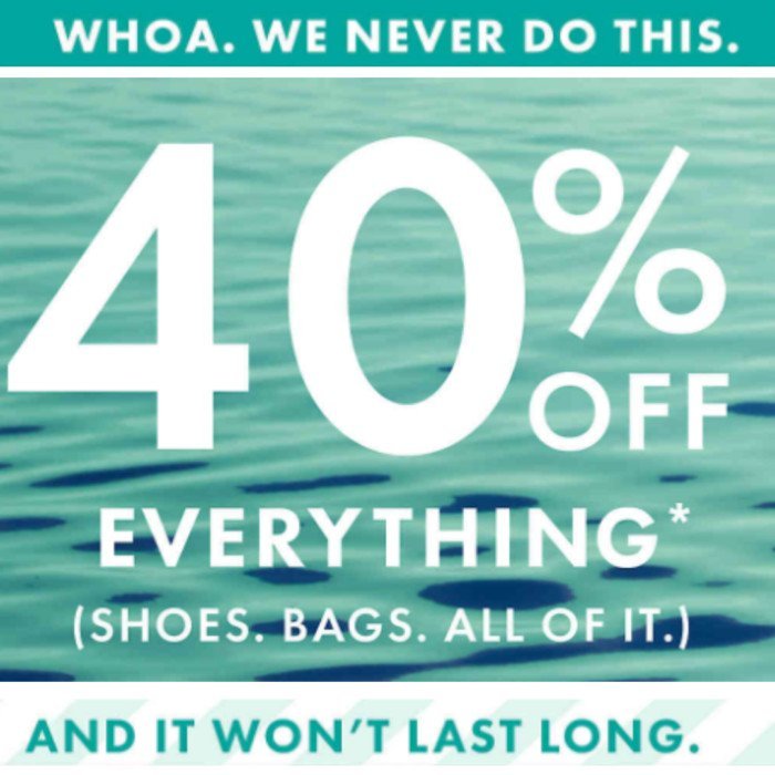 40% off EVERYTHING at DSW – Vans, Nike, BLACK Converse, and MORE **RARE**