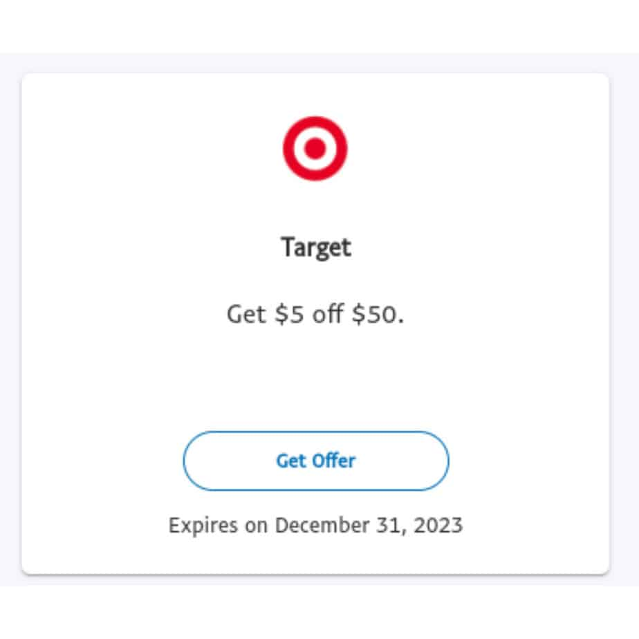 Paypal Users Can Save  off Any  Target Purchase