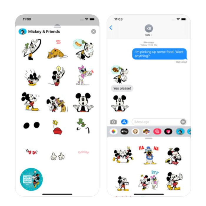 Free Disney Sticker Packs for Apple Devices