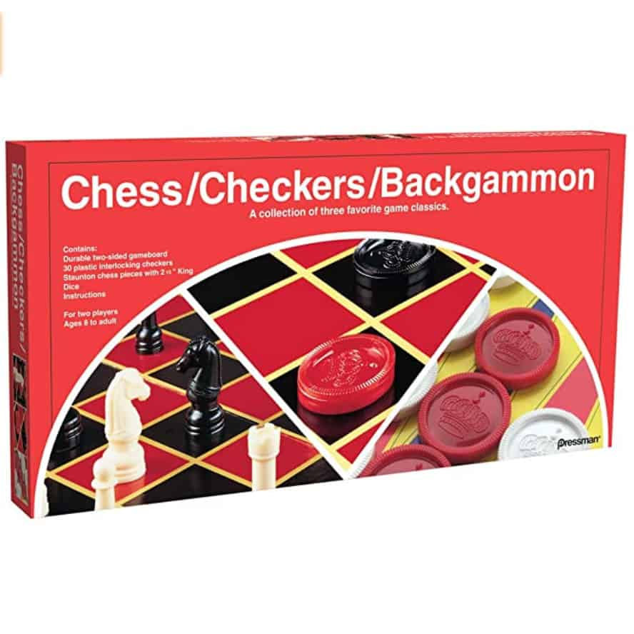 Checkers/Chess/Backgammon ~ 3 Games in One Now .90