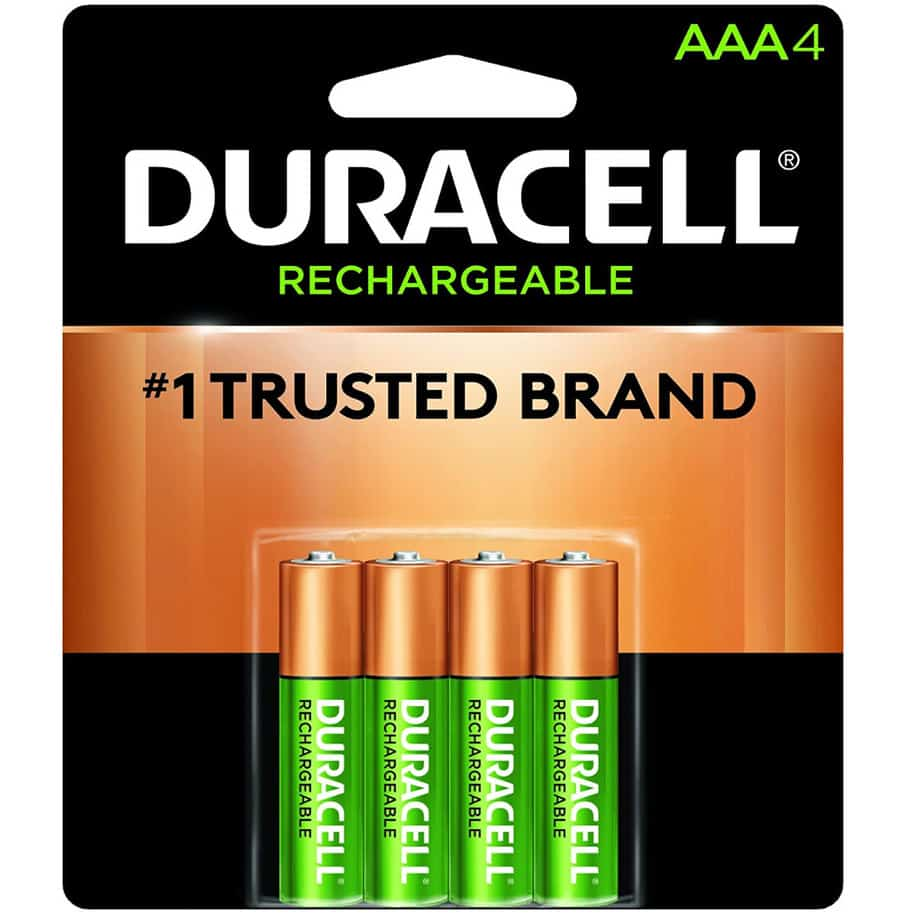 Duracell Rechargeable AAA Batteries 4 Count Now .63 (Was .95)