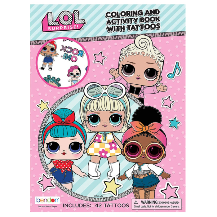 L.O.L. Surprise! Color & Activity Book with Tattoos Now $2.49