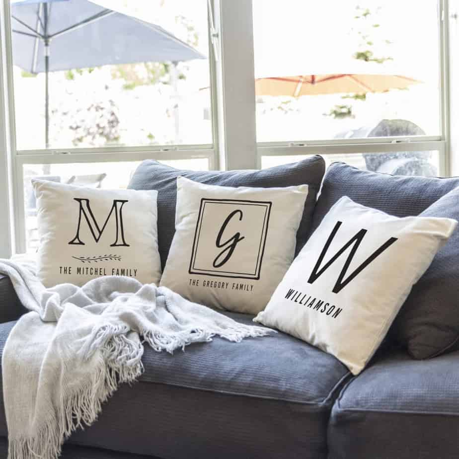 Personalized Monogram Pillow Covers Only .99 with Free Shipping