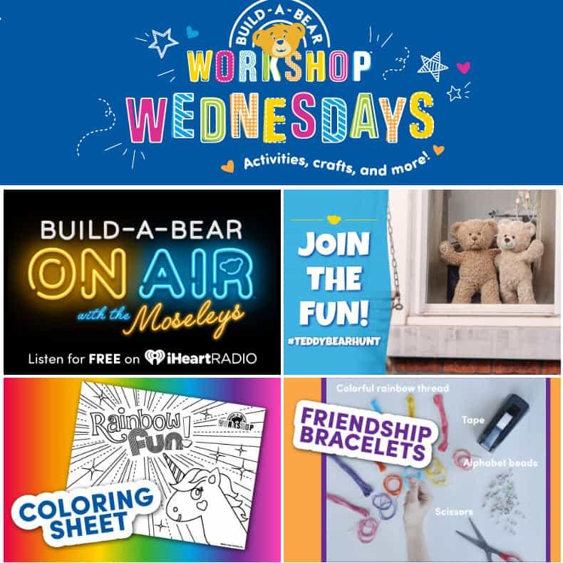 FREE Build A Bear Virtual Workshop Every Wednesday