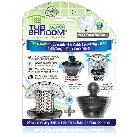 TubShroom Ultra Revolutionary Bath Tub Drain Protector Hair Catcher Now $9.99