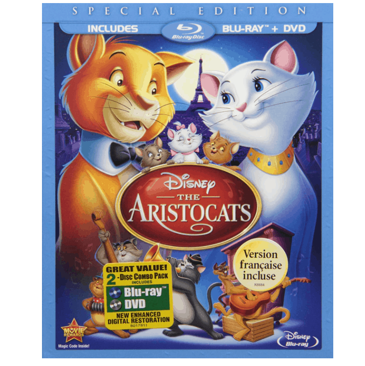 The Aristocats Two-Disc Blu-ray/DVD Special Edition Now .99 (Was .99)
