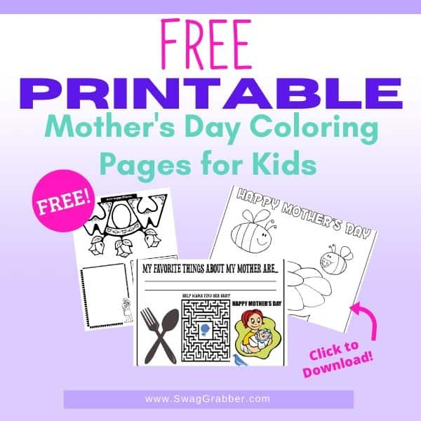 Free Mother's Day Printables Kids Can Color for Mom & Grandma