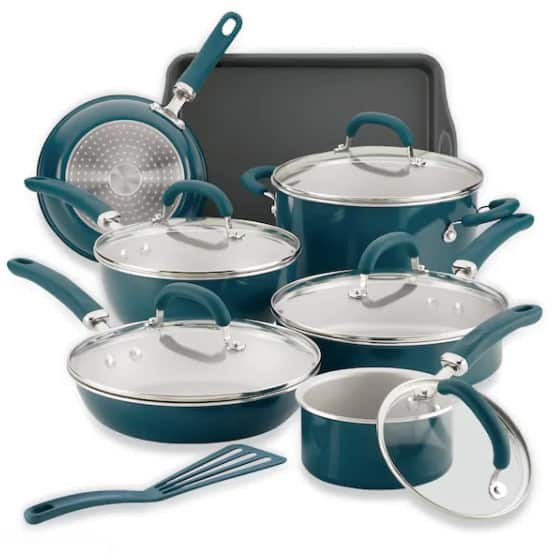 Rachael Ray Create Delicious 13-pc. Aluminum Cookware Set  (Was 0)