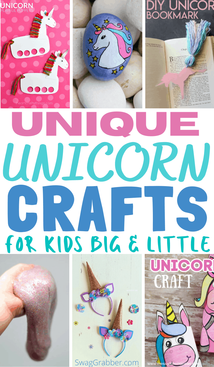 Unicorn Crafts for Big and Little Kids