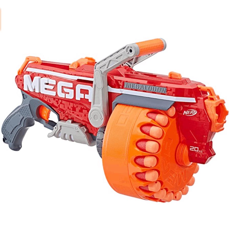 Megalodon Nerf N-Strike Mega Toy Blaster with 20 Official Mega Whistler Darts Now .99