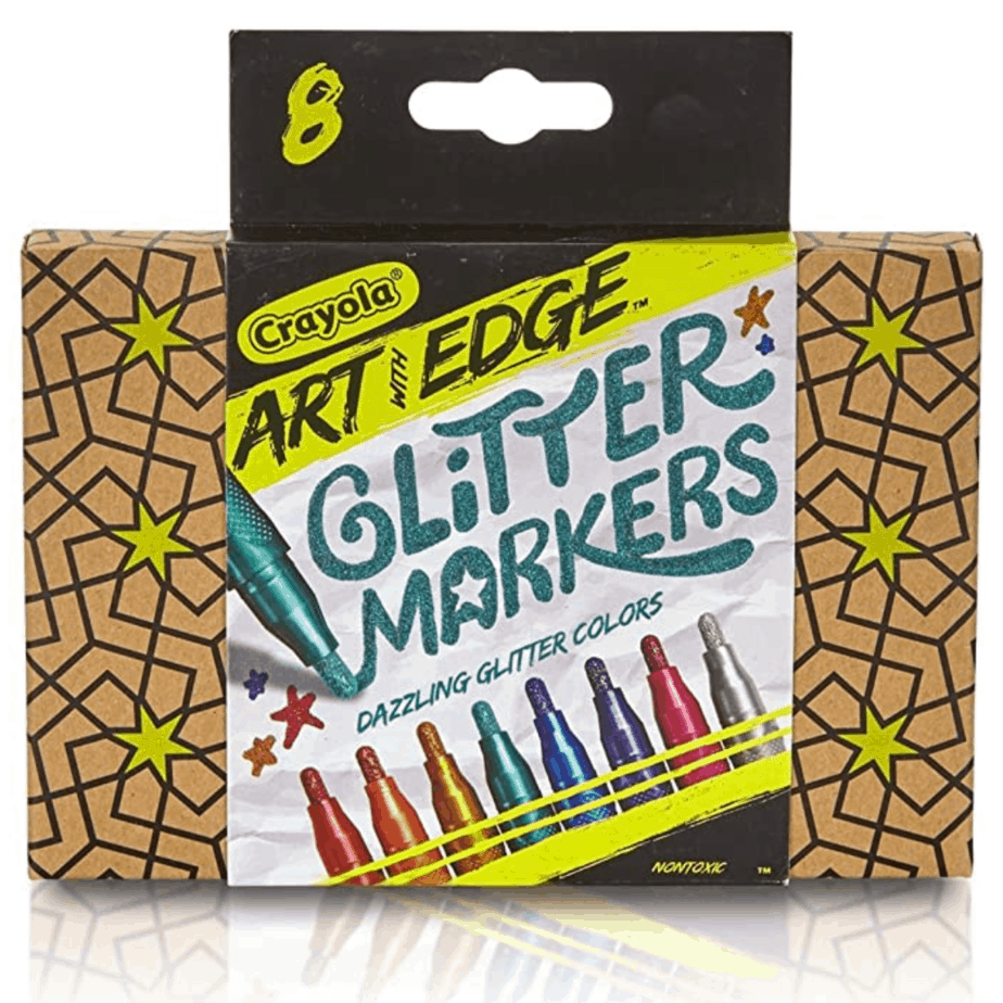 Crayola Art with Edge Glitter Markers 8-Count Now .95 (Was .49)