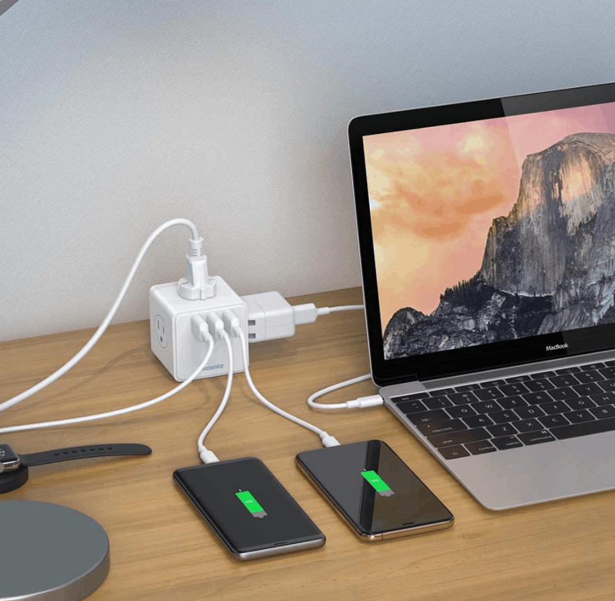 Power Strip Cube with 4 Outlet and 3 USB Ports Now .99 (Was .99)