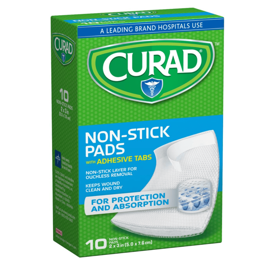 Curad Non-Stick Pads, 2 Inches X 3 Inches with Adhesive Tabs, 10 Count Now .42