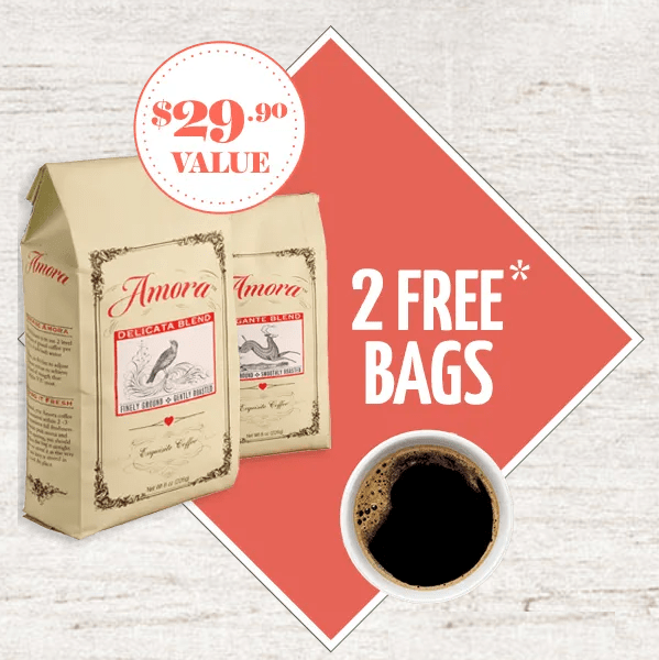 Get 2 Bags of Amora Coffee for ONLY .00 Shipped ( Value)