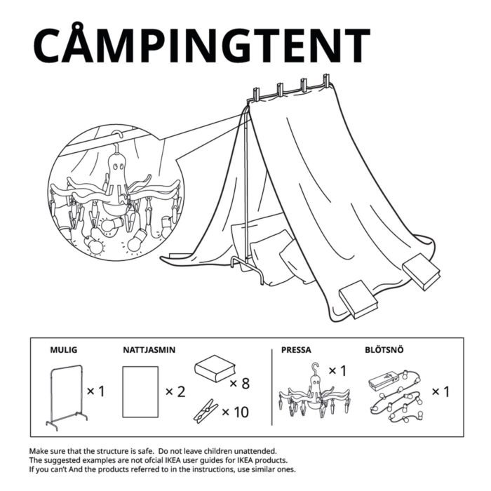 Free Blanket Fort Instructions from IKEA