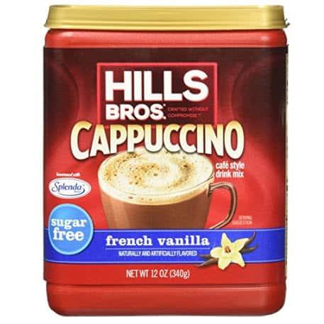 Hills Bros. Instant Sugar-Free French Vanilla Cappuccino Mix .69 Shipped