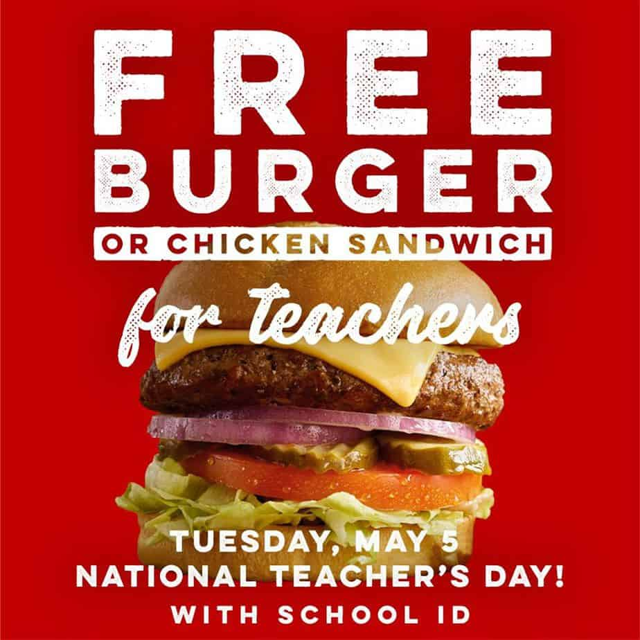 Free Burger or Chicken Sandwich for Teachers at Ruby Tuesday Today