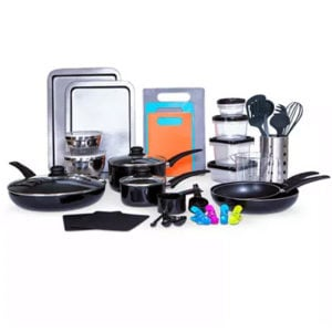 Sedona Kitchen-In-A-Box 64-Pc. Cookware & Food Storage Set Now .99 (Was 0)