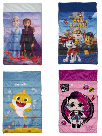 PAW Patrol, Frozen, Baby Shark, L.O.L Surprise! Weighted Slumber Bag Now .96