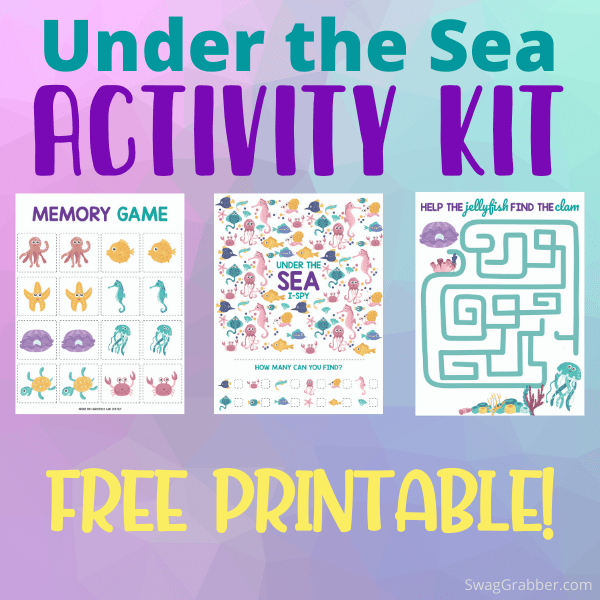 FREE Printable Under the Sea Kids Activity Pack