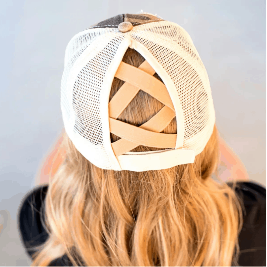 Criss Cross Messy Bun Hats Only .99 with Free Shipping
