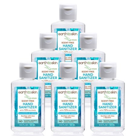 6 Pack of Earth to Skin Hand Sanitizer Gel, 2 oz Now $6.99
