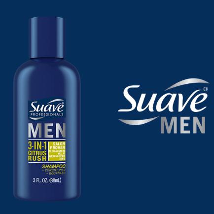 FREE Sample of Suave Men 3-In-1 Citrus Rush