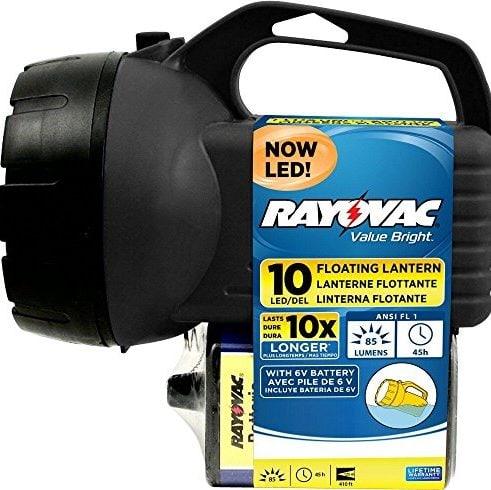 RAYOVAC Value Bright 85-Lumen 6V 10-LED Floating Lantern Only .92