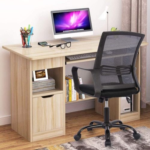 Smugdesk Mid-Back Big Ergonomic Office Chair with Armrests Now .99