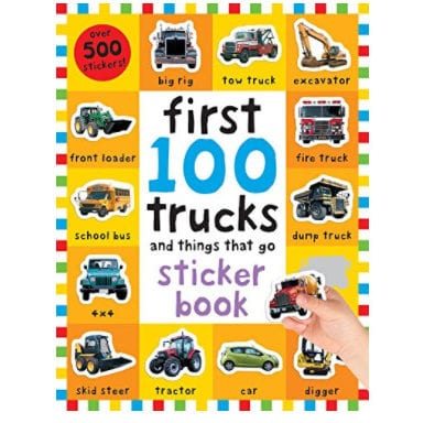 First 100 Trucks and Things That Go: Sticker Book Now .99 (Was )