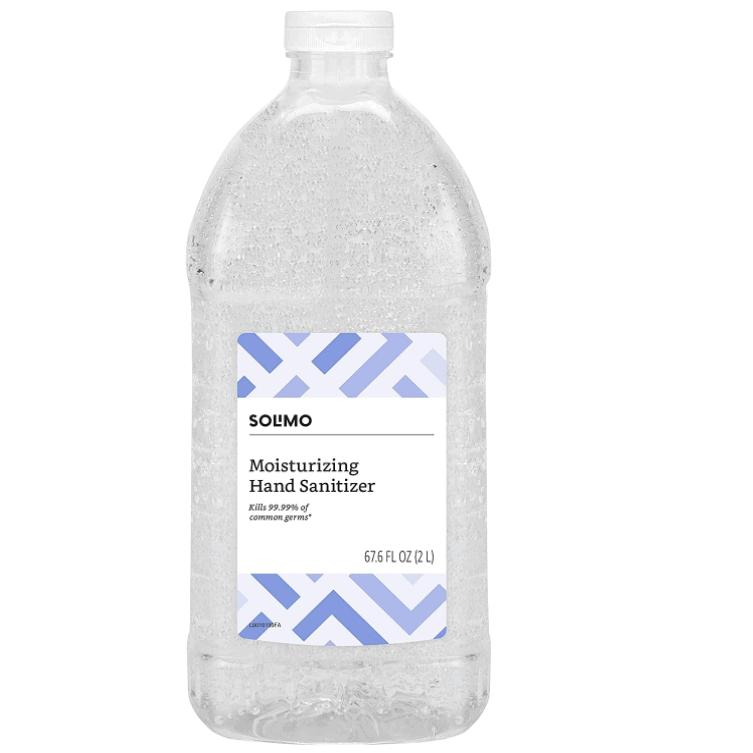 Amazon Brand - Solimo Hand Sanitizer, 67.6 Fl Oz Now .99