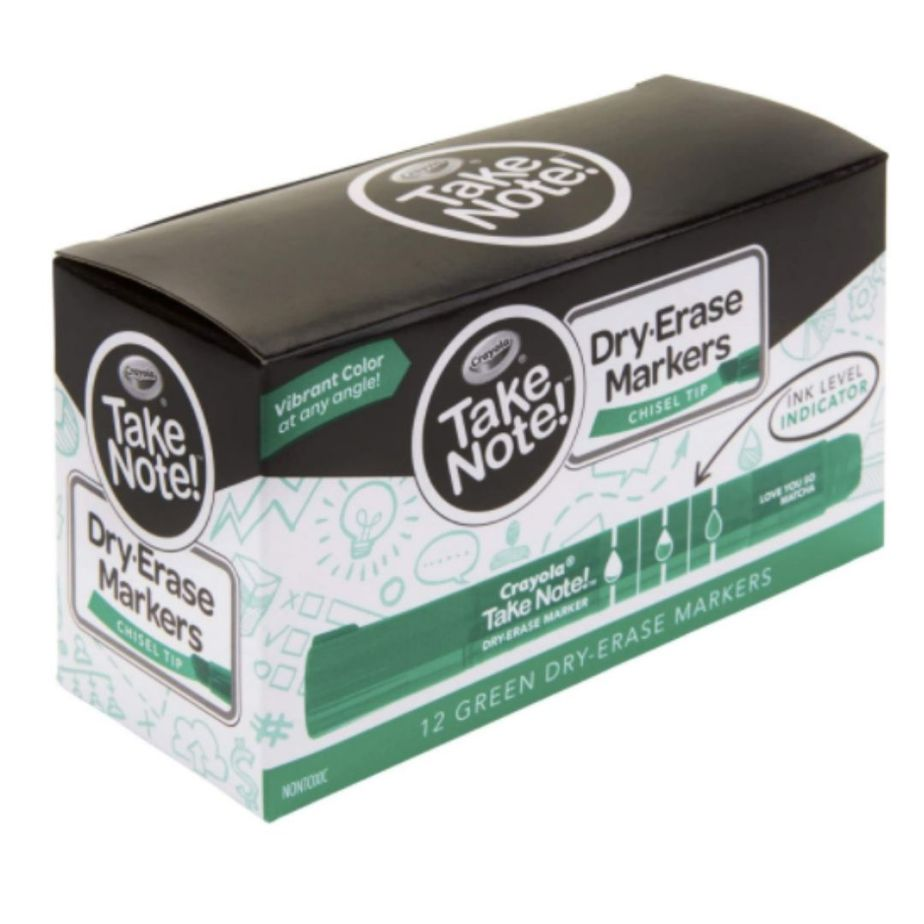 Crayola Take Note Dry Erase Markers, 12 Count Now .64 (Was .99)