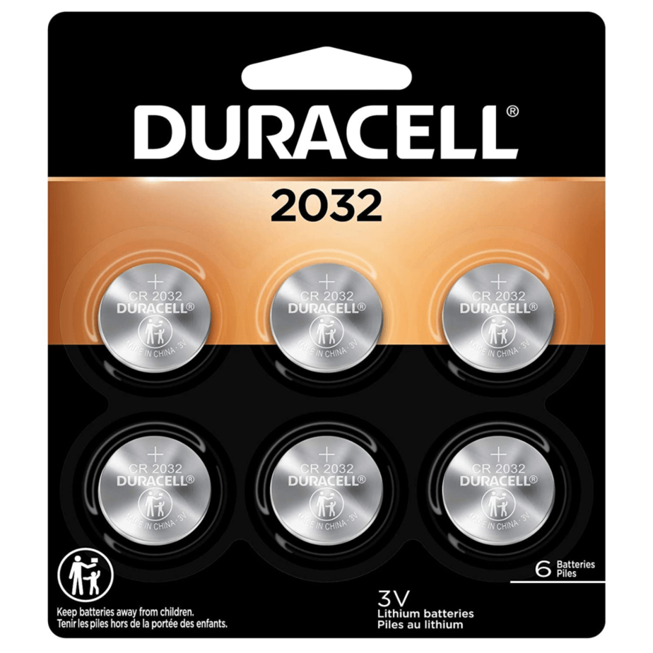 Duracell 2032 3V Lithium Coin Battery 6-Count Now .80 (Was .99)