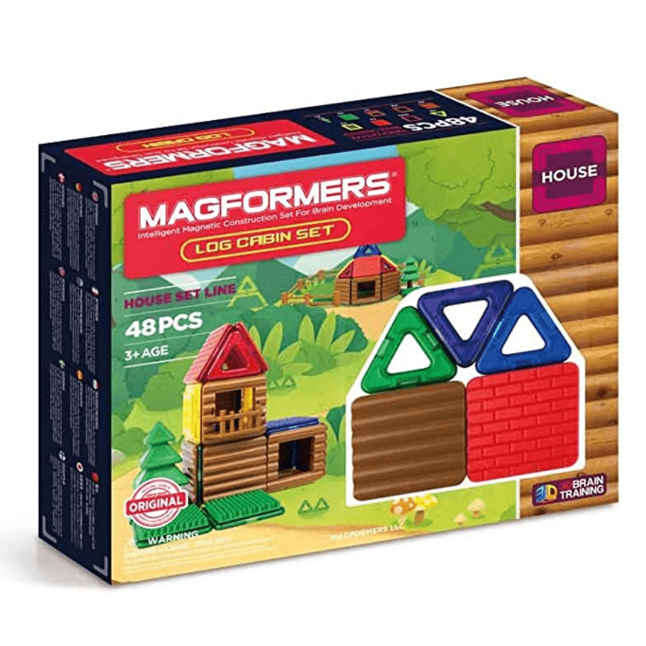 Magformers Log Cabin Set 48 Pieces Now .99 (Was .99)