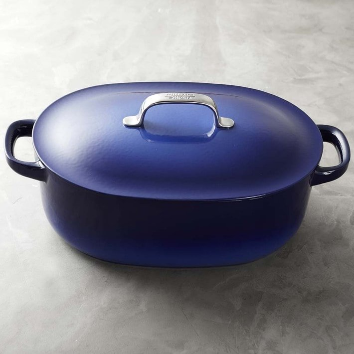 Williams Sonoma Enameled Cast Iron by Staub Oval Oven  (Was 0)