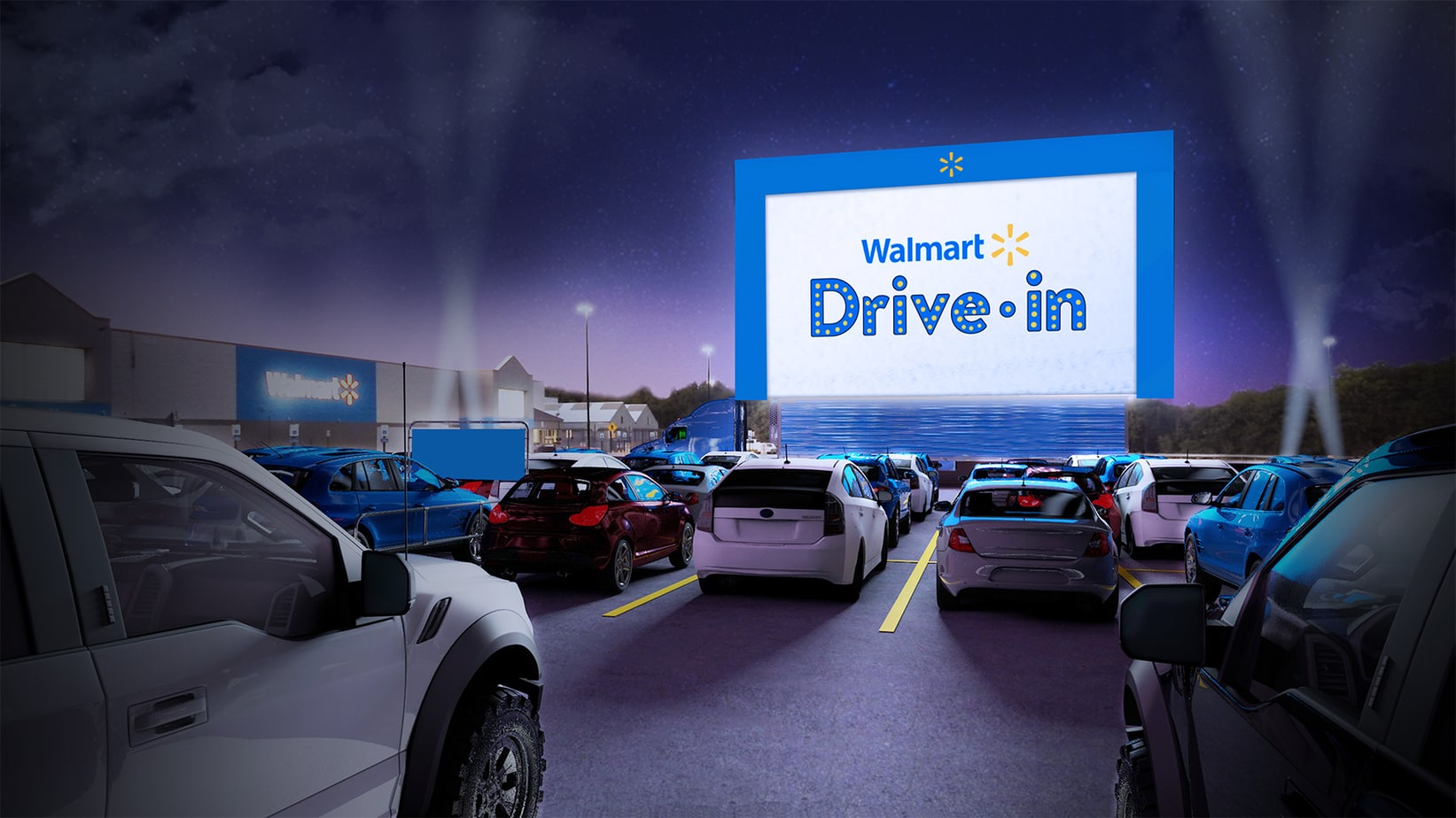 Walmart Turning Parking Lots into Drive-in Movie Theaters